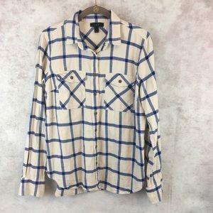 J. Crew Plaid Flannel Button Down Shirt 8
